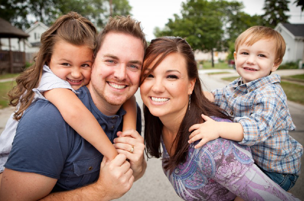 Happy Family - Couple with two children